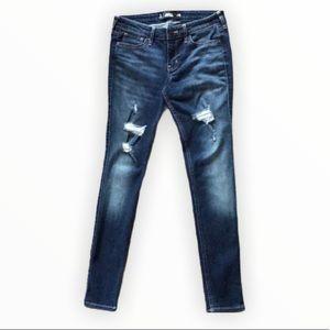 "Hollister 26"" W Distressed Super Skinny Blue Jeans"